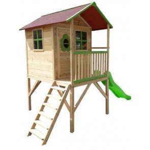 raised cubby house kit with slide and ladder